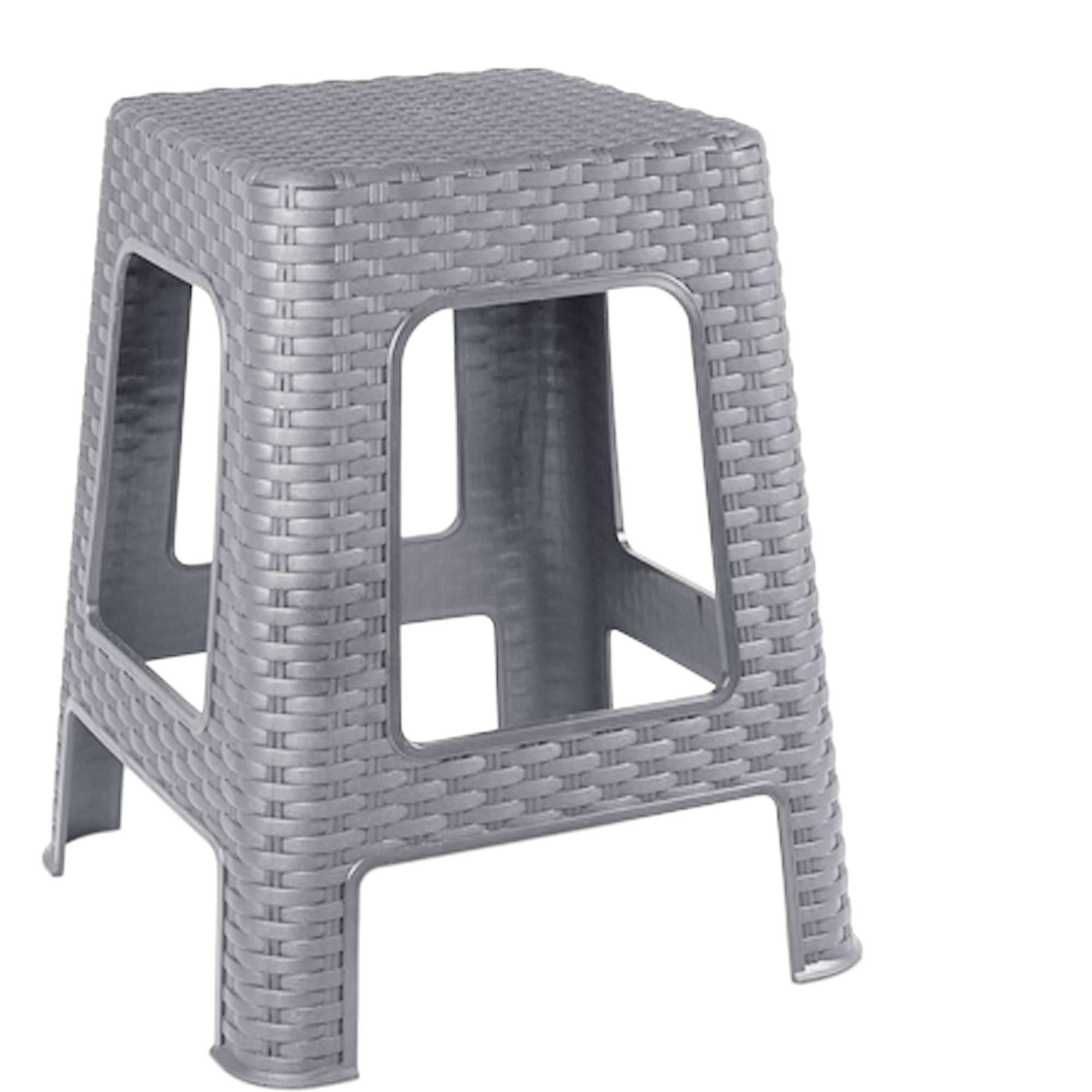 plastic rattan style step stool indoor outdoor home kitchen