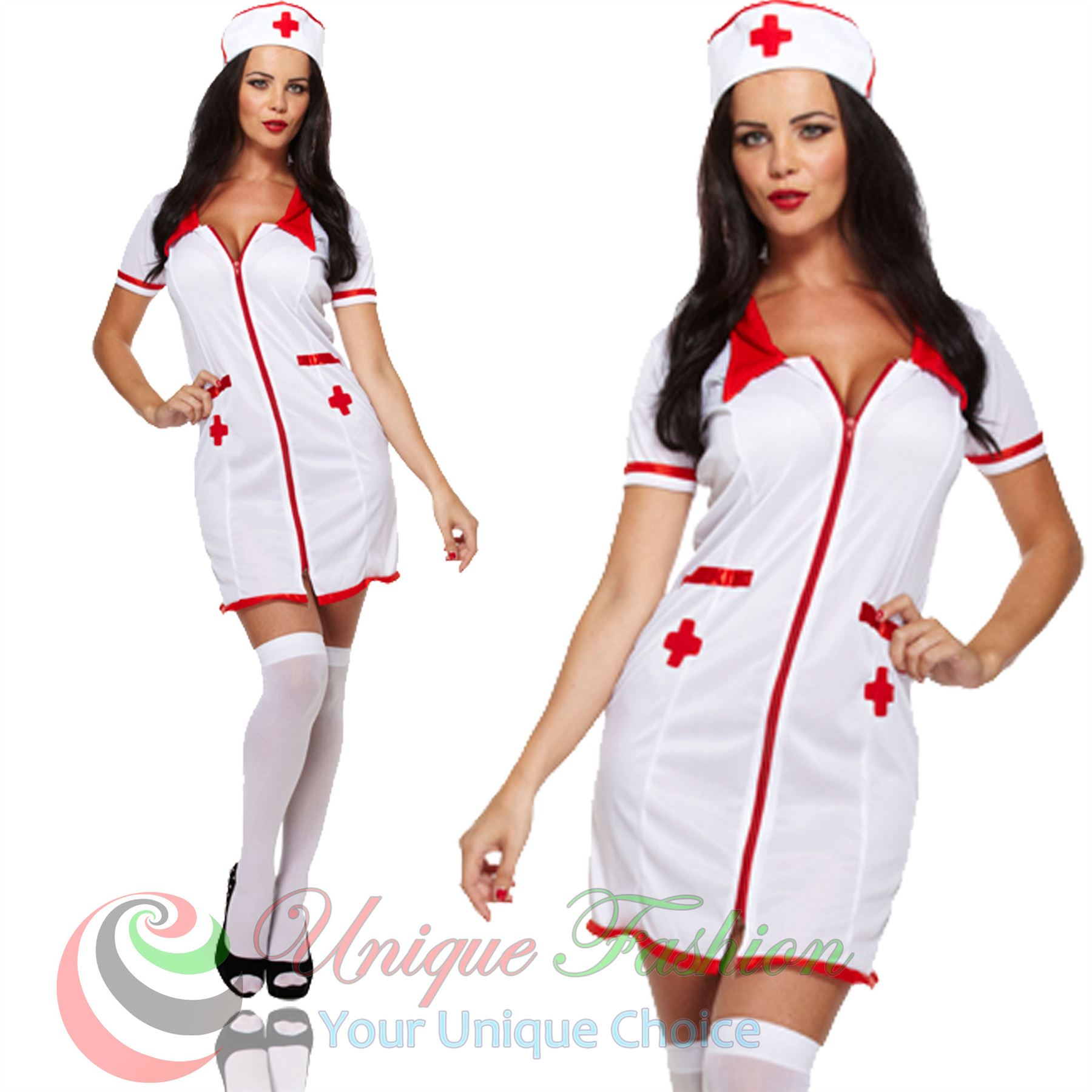 Ladies Fancy Dress Costume Halloween Party New Outfit Size Adult ...