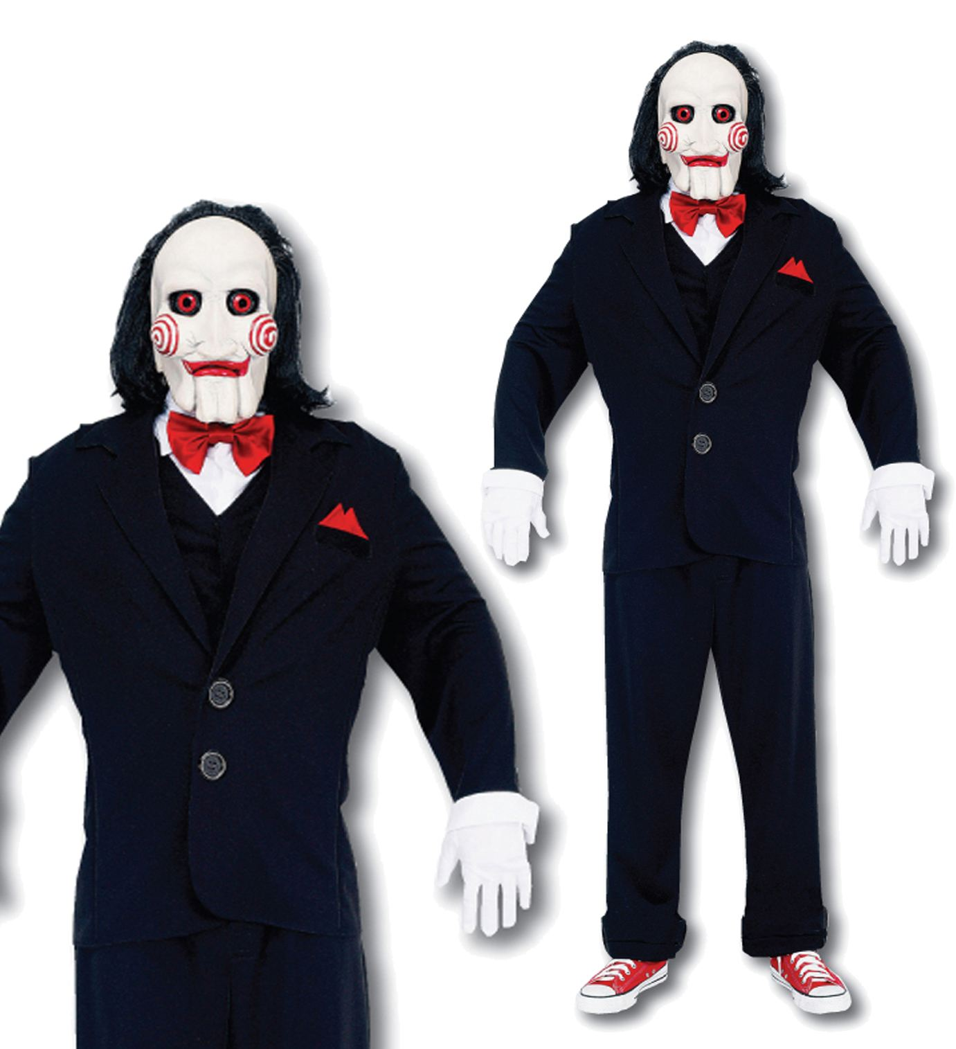 NEW MENS JIGSAW COSTUME WITH MASK FANCY PARTY DRESS HALLOWEEN ...