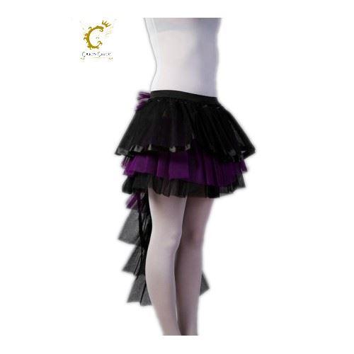 Ladies Long Tail Skirt Swing Purple Burlesque Tutu