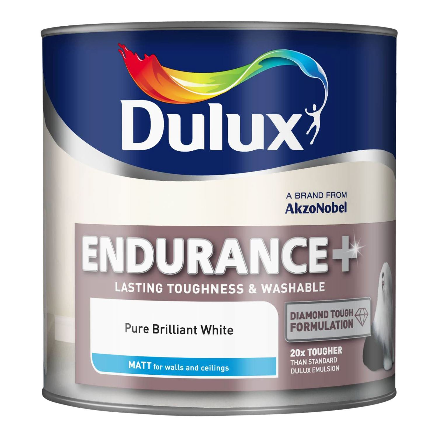 Dulux Endurance Matt Emulsion Paint Toughness Washable Walls Ceiling 5l Ebay