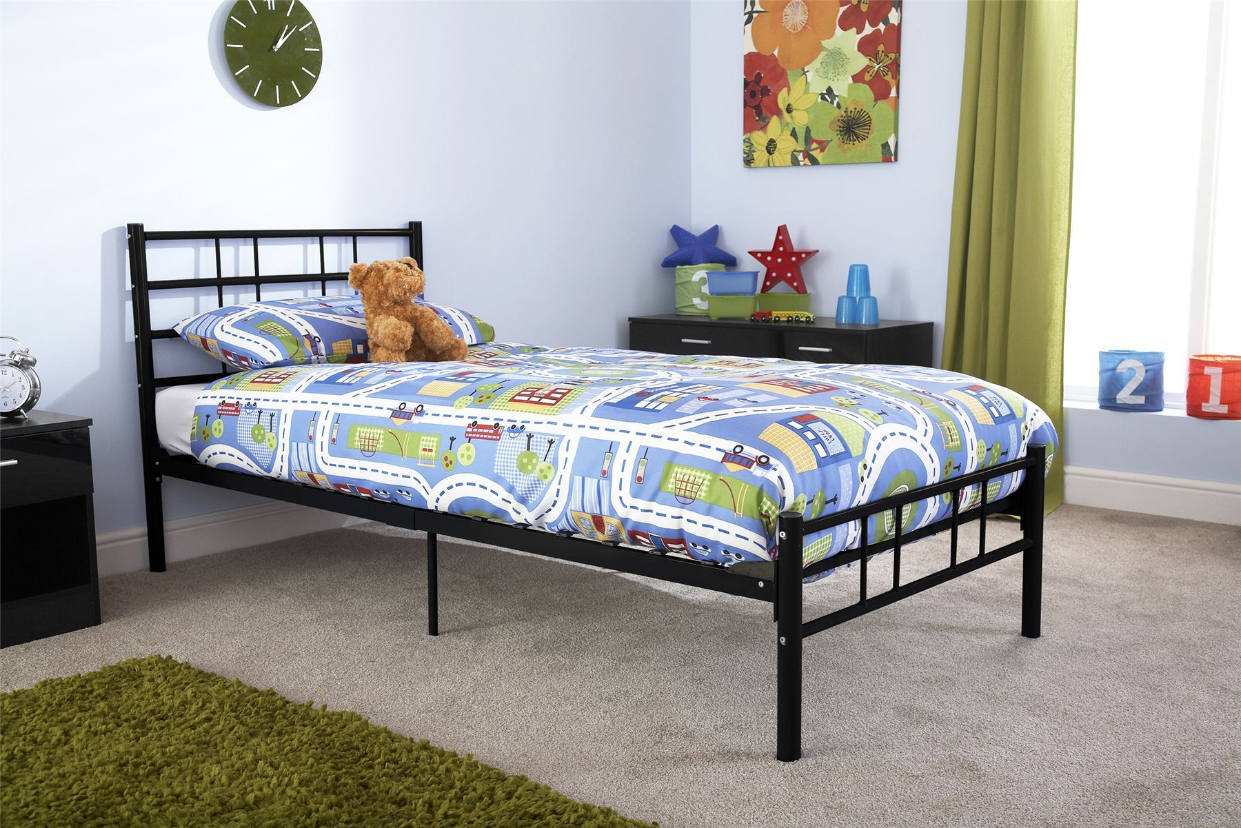 Morgan Metal Bedstead Bed Frame 3ft 4ft 4ft6 Bed Black