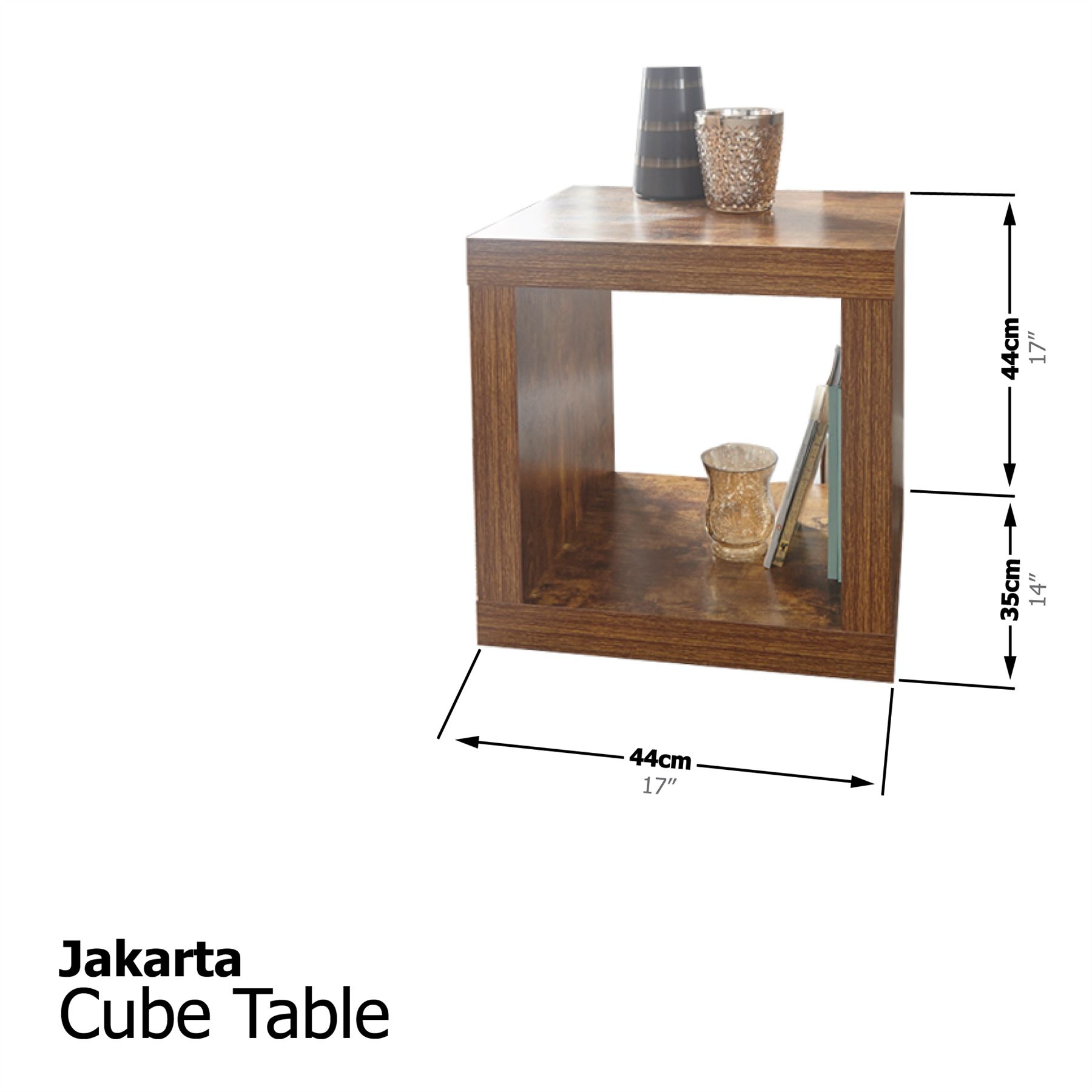 JAKARTA MANGO LIVING ROOM NEST TABLE SLIM DRAWERS TV UNIT CUBE