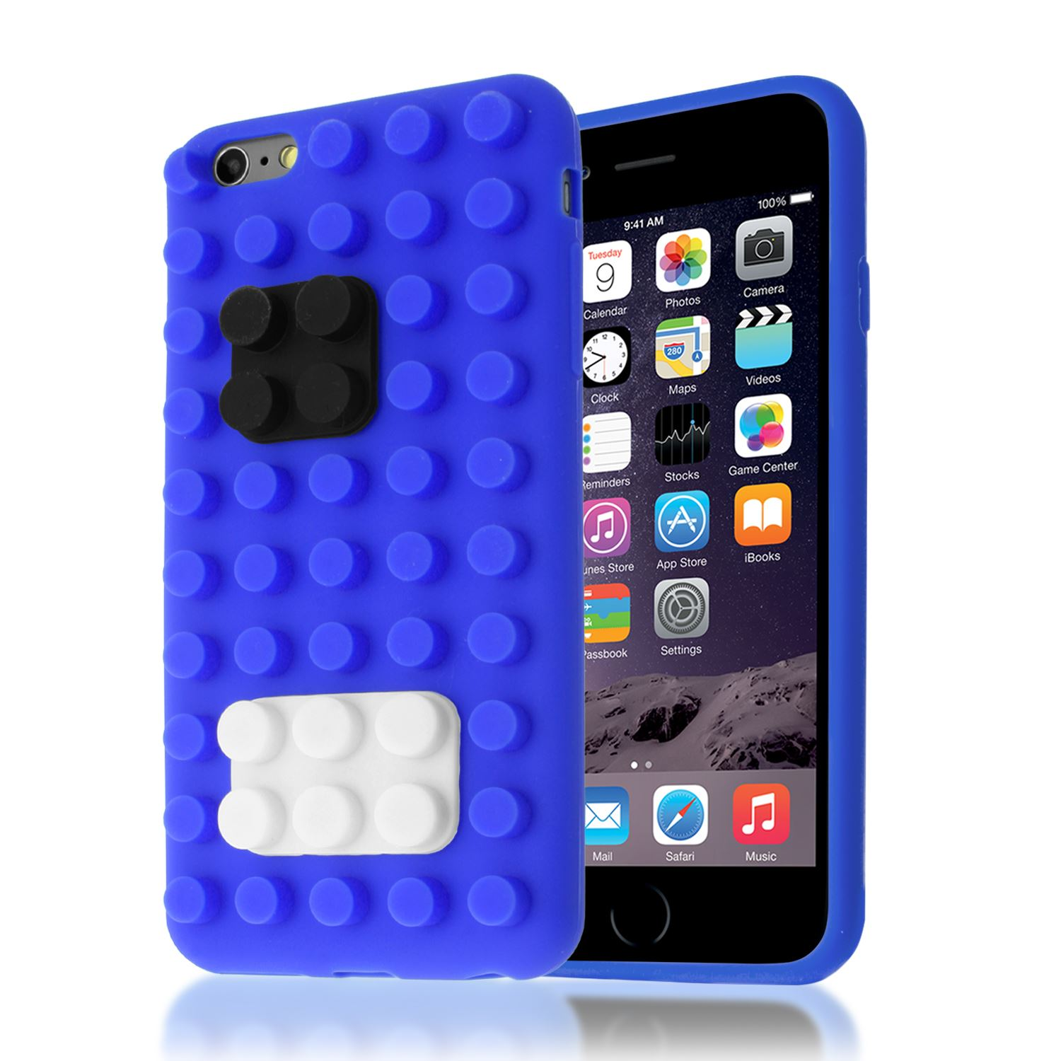 3d building lego blocks soft silicone case stand cover for apple iphone 6s plus ebay. Black Bedroom Furniture Sets. Home Design Ideas