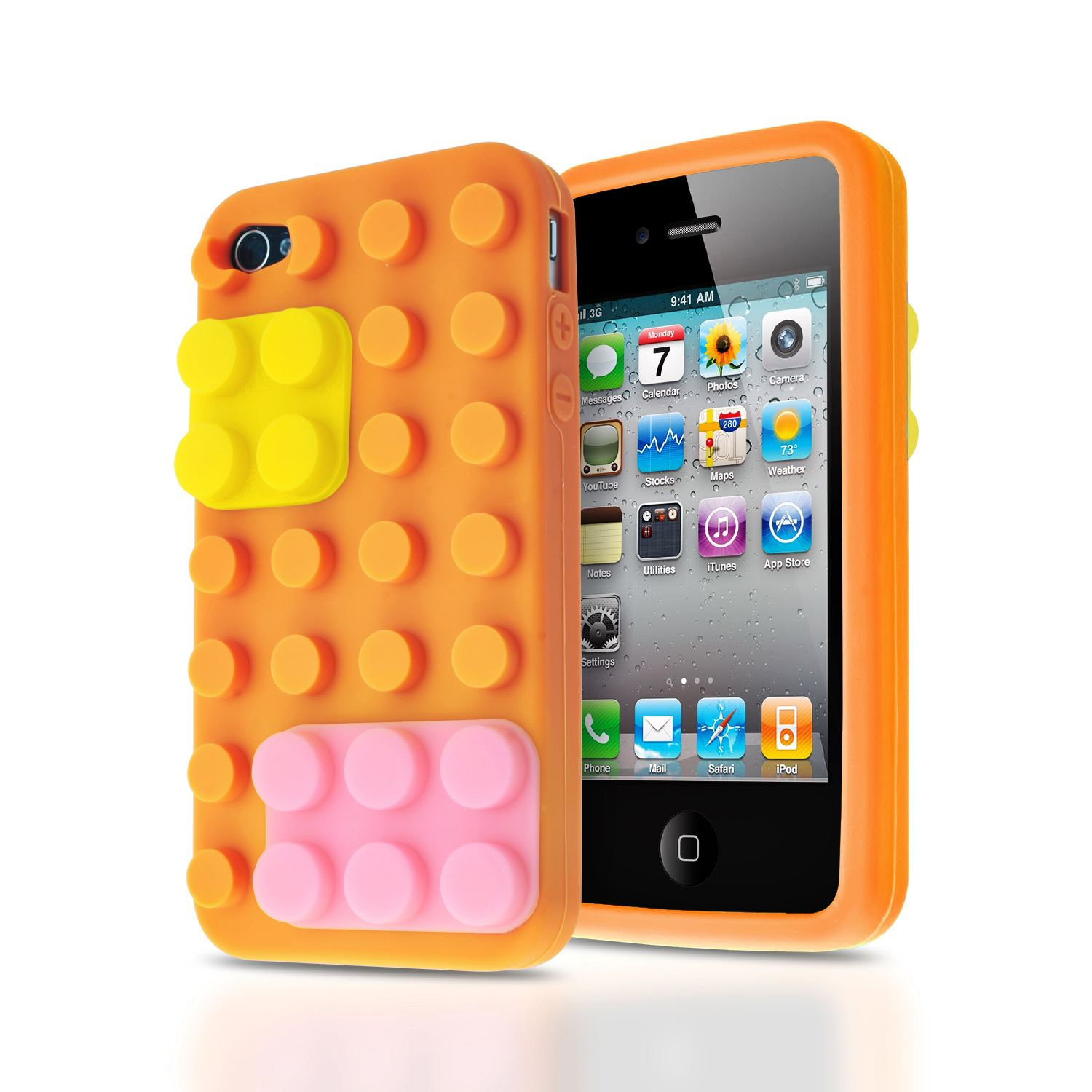 3d iphone cases 3d building blocks lego brick soft silicone stand 2207