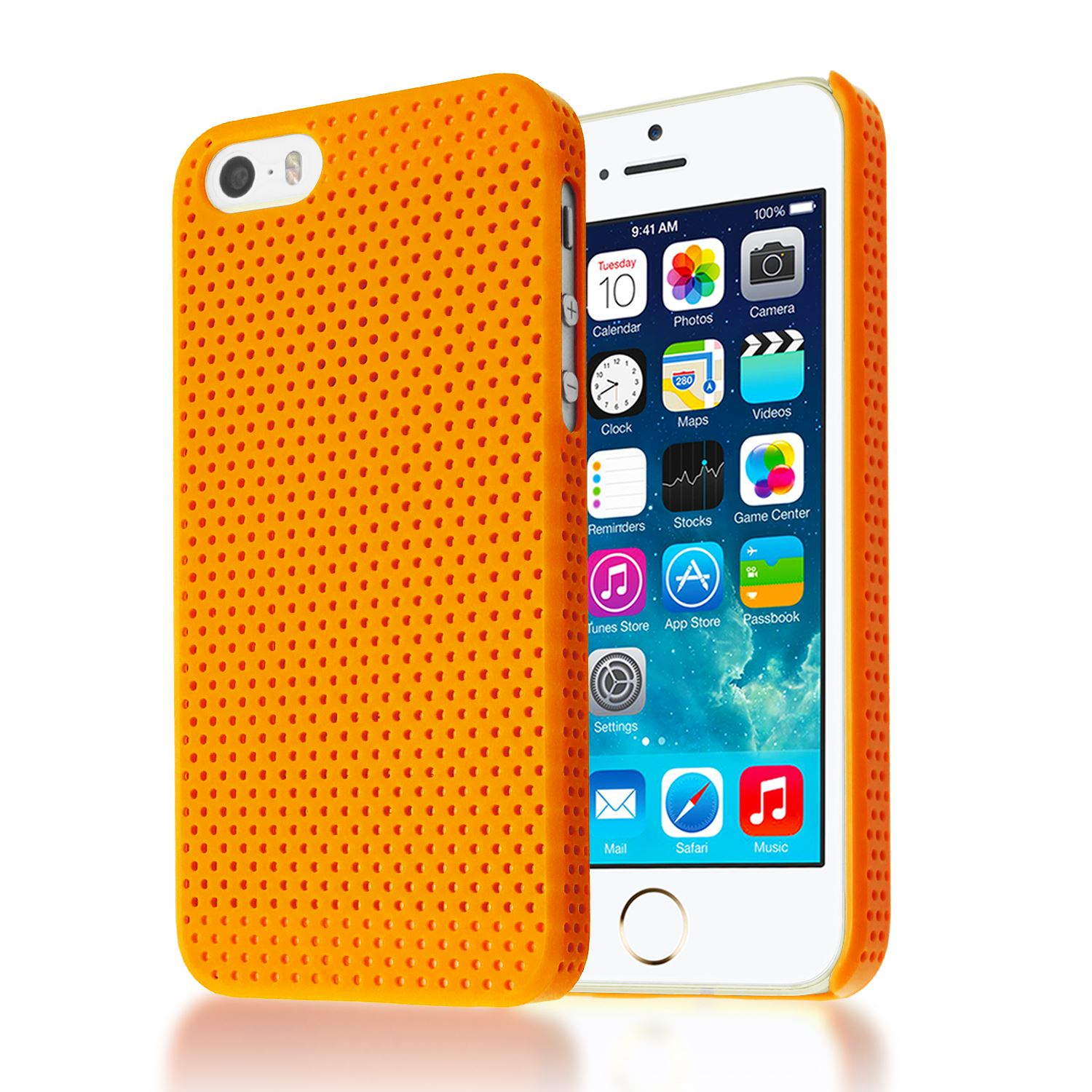 apple iphone 5s case mesh impact perforated back plastic cover for 4902