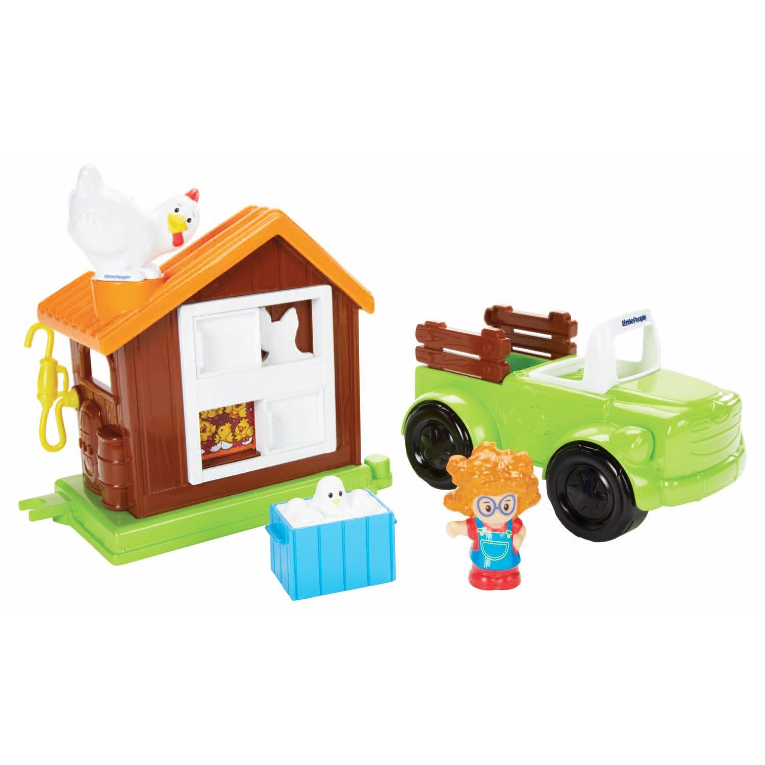 FISHER PRICE LITTLE PEOPLE FARM TRUCK & HOUSE TRACTOR ...