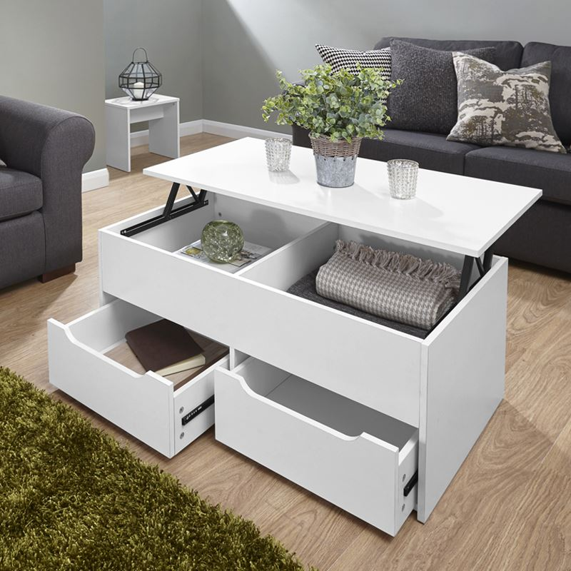 White Lift Up Coffee Table.Details About Ultimate Storage Lift Up Coffee Table Split Level Top Table Large Space White