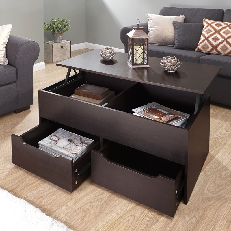 Lift Up Coffee Table With Storage 10
