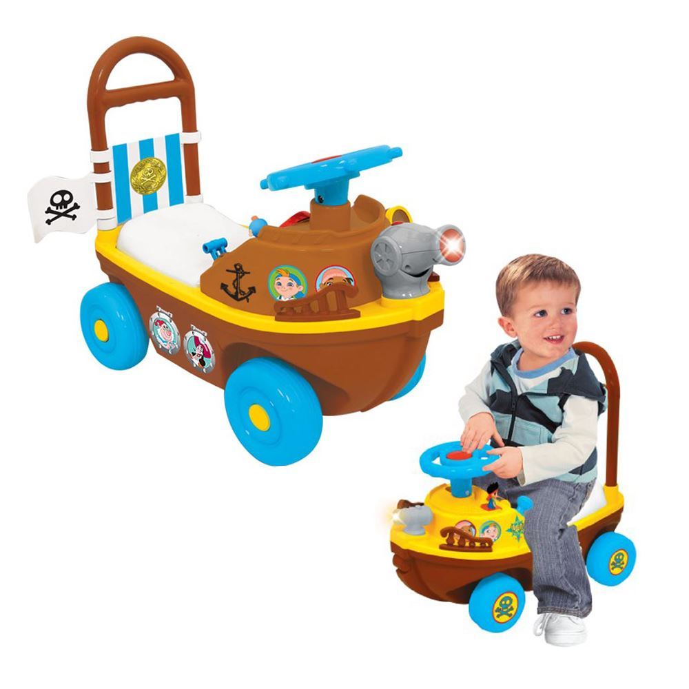 JAKE & NEVER LAND PIRATE BOAT RIDE-ON PUSH ALONG CHILDREN TODDLERS ...
