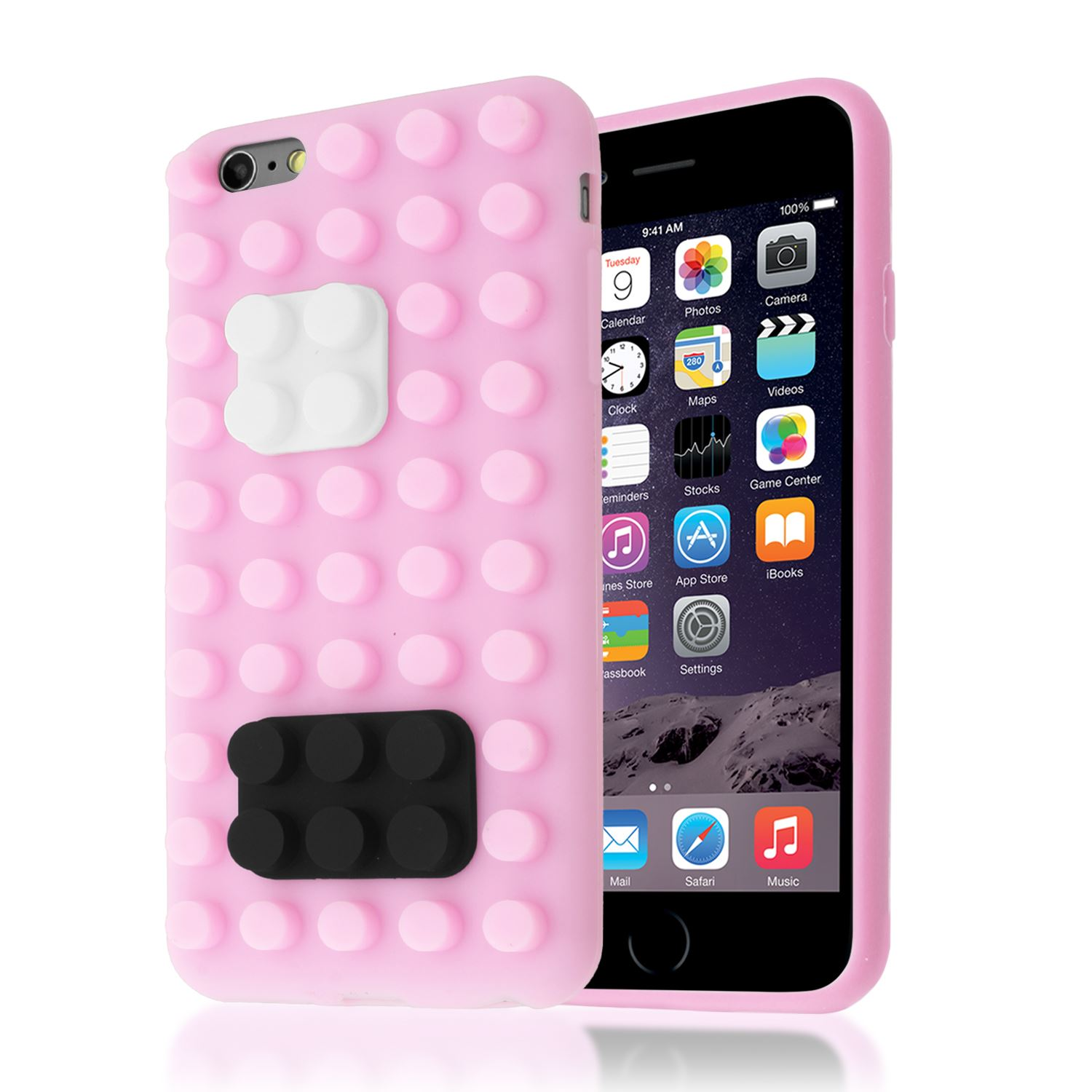 iphone 6s 3d 3d building lego brick blocks silicone stand cover 11458
