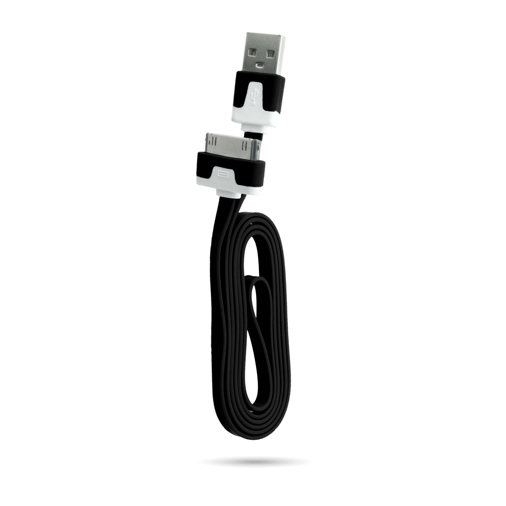 1M-2M-3M-METER-FLAT-NOODLE-SYNCING-DATA-USB-CHARGER-CABLE-FOR-APPLE-IPHONE-4S-4