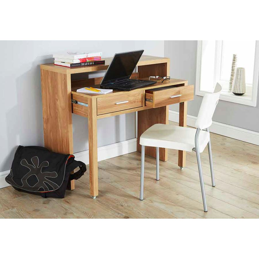Regis extending console table study computer desk 2 for Table console retractable