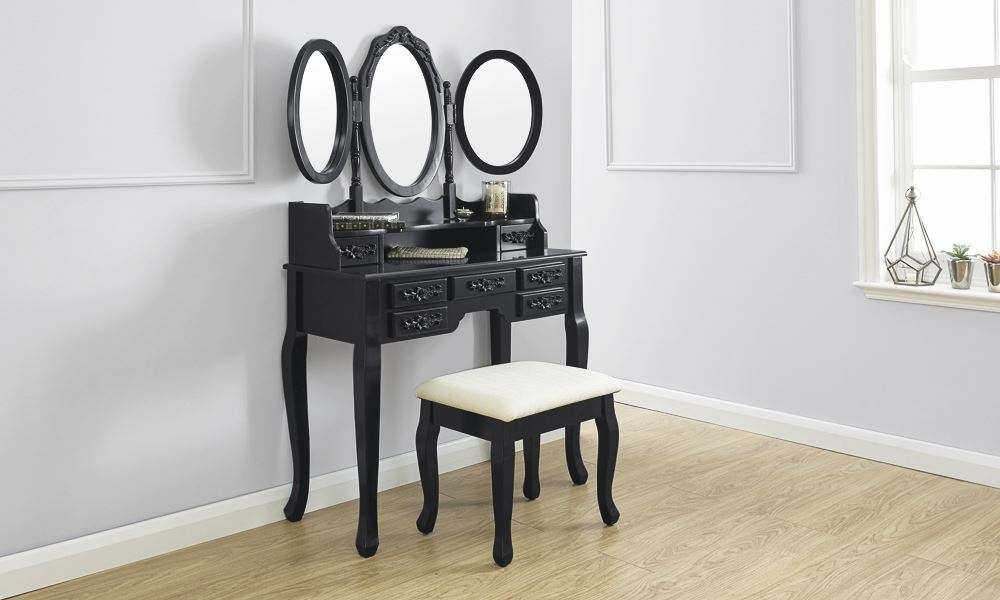 Arabella dressing table set vanity makeup desk w padded for Makeup vanity table without mirror
