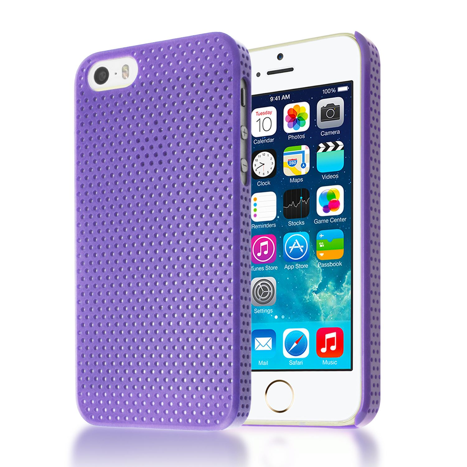 5s iphone case mesh impact perforated back plastic cover for 5845