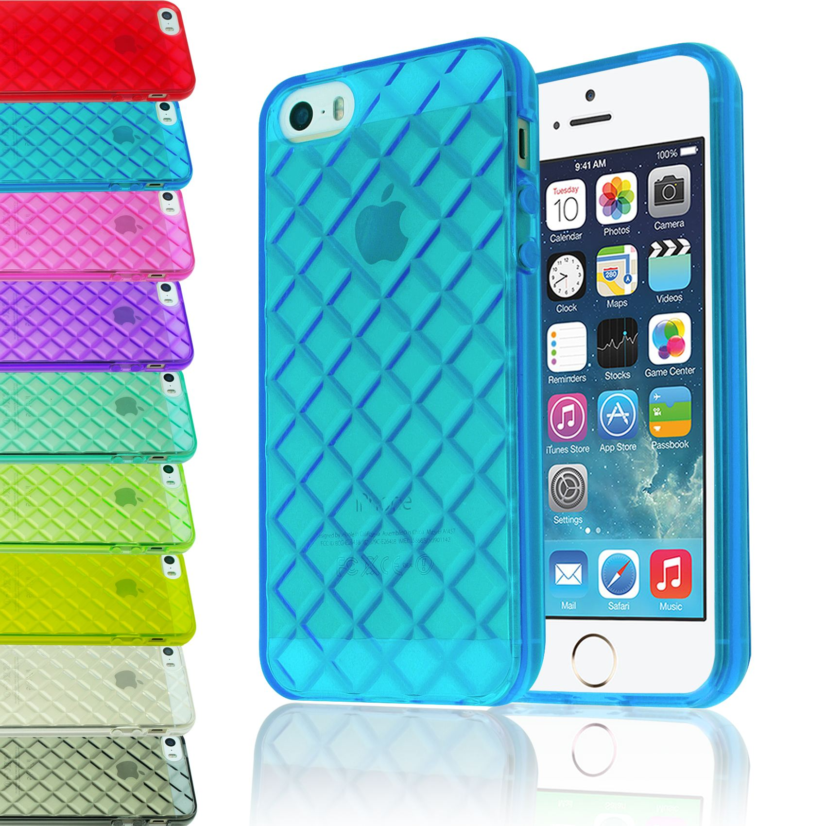 Transparent Diamond Rhomb Tpu Gel Clear Soft Back Case Cover For 1 Iphone 5