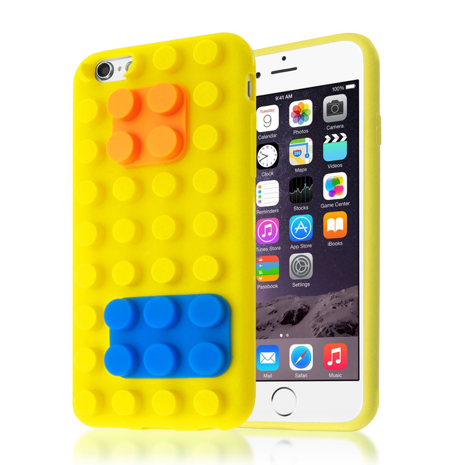 3D BUILDING LEGO BLOCKS BRICK SOFT SILICONE STAND COVER