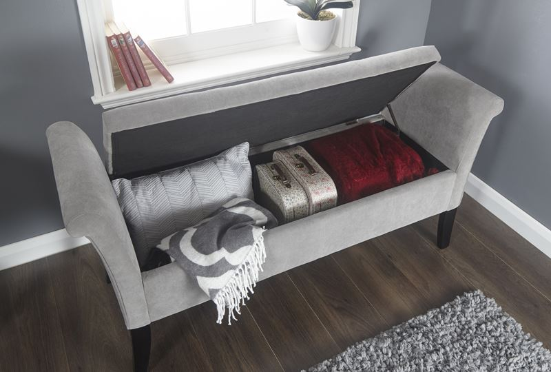 BALMORAL WINDOW SEAT OTTOMAN STORAGE BOX LARGE BLANKET