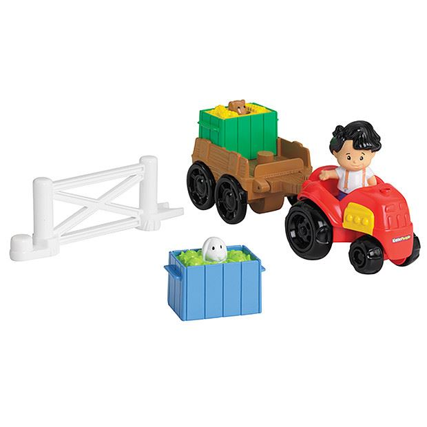 fisher price little people farm truck house tractor trailer figure toys ebay. Black Bedroom Furniture Sets. Home Design Ideas