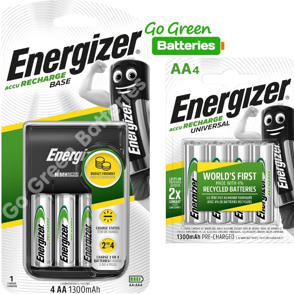 4 Duracell AA AAA Battery Charger 2 Pre-Charged 2000 mah Rechargeable Batteries