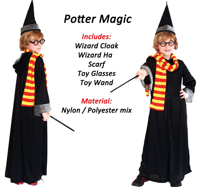 Boys-Fancy-Dress-Costume-Outift-Role-Play-Harry-Potter-Skeleton-Army