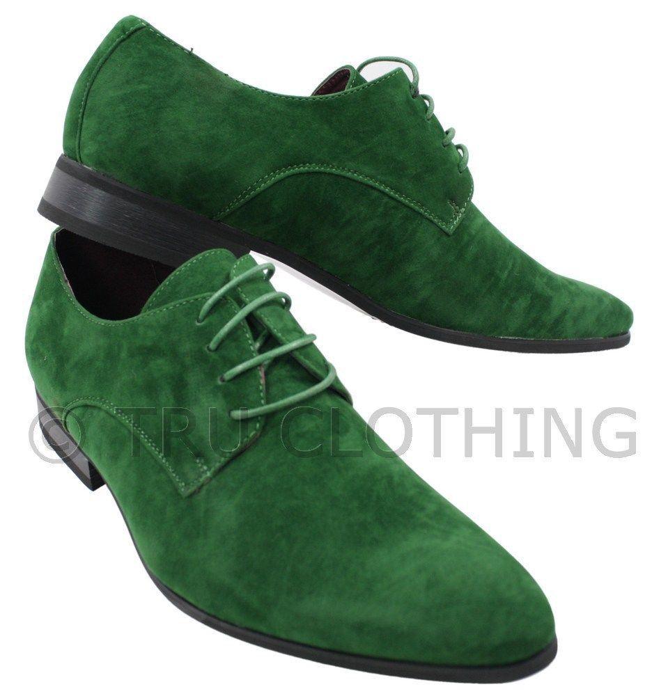 décontracté simili noir lacets chic rouge Chaussures vert homme daim tqBxfUgw