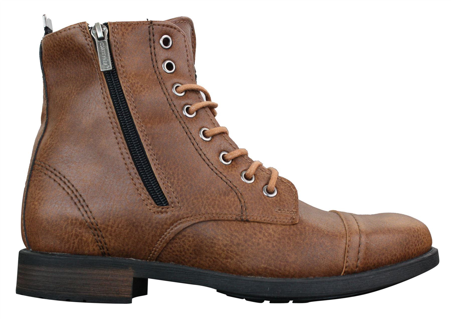b976533eb470 Mens Smart Casual Laced Zip Military Army Hiking Retro Vintage ...