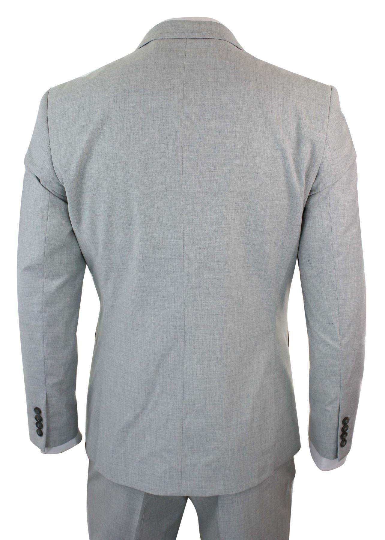 grand choix de 0118a a8801 Détails sur Costume 3 pièces homme gris clair ajusté veste gilet pantalon  vendus séparemment