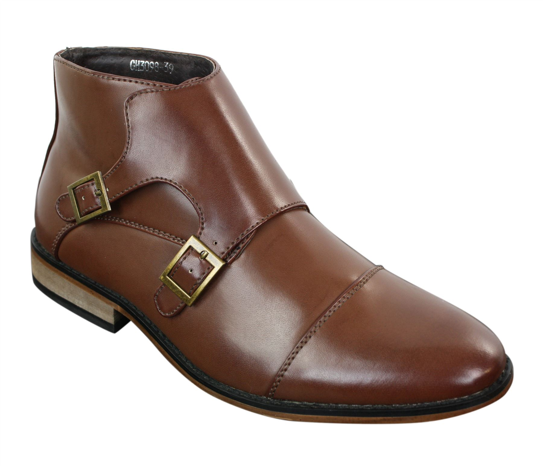 lining title casual show ankle leather buckle smart Mens about original boots height Details genuine OXPTZiku