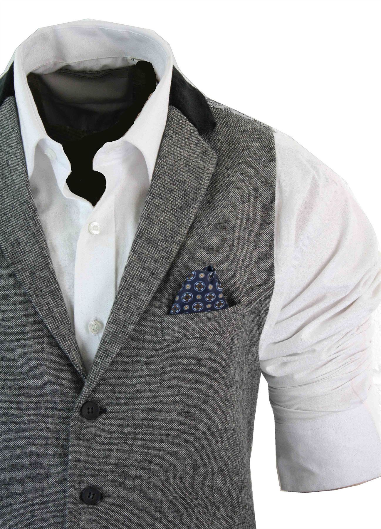 gilet homme veston tweed chevrons velours c tel laine coupe cintr e r tro ebay. Black Bedroom Furniture Sets. Home Design Ideas