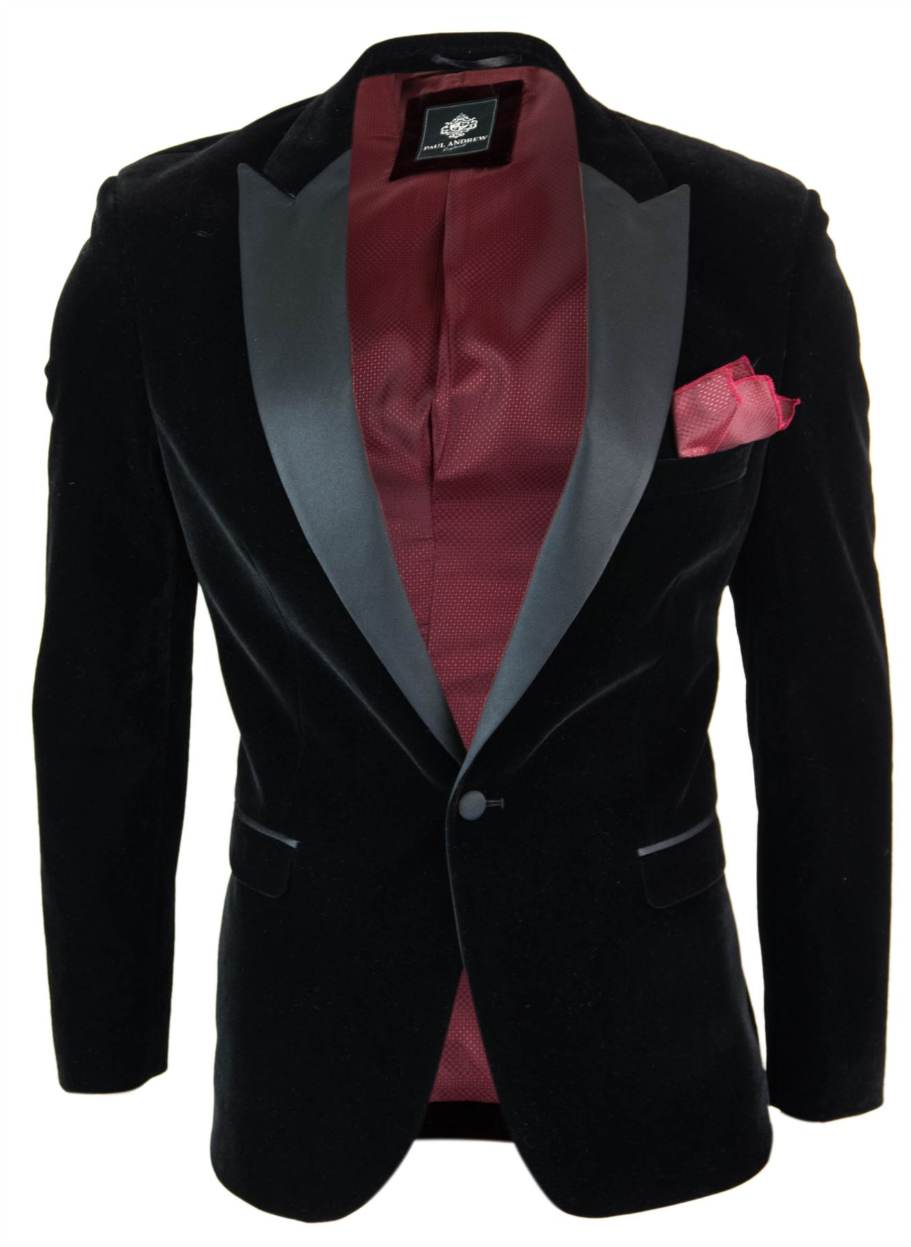 Nouvelles Arrivées divers styles haut de gamme pas cher Details about Mens black velvet blazer soft formal chic style wedding  holidays evenings- show original title