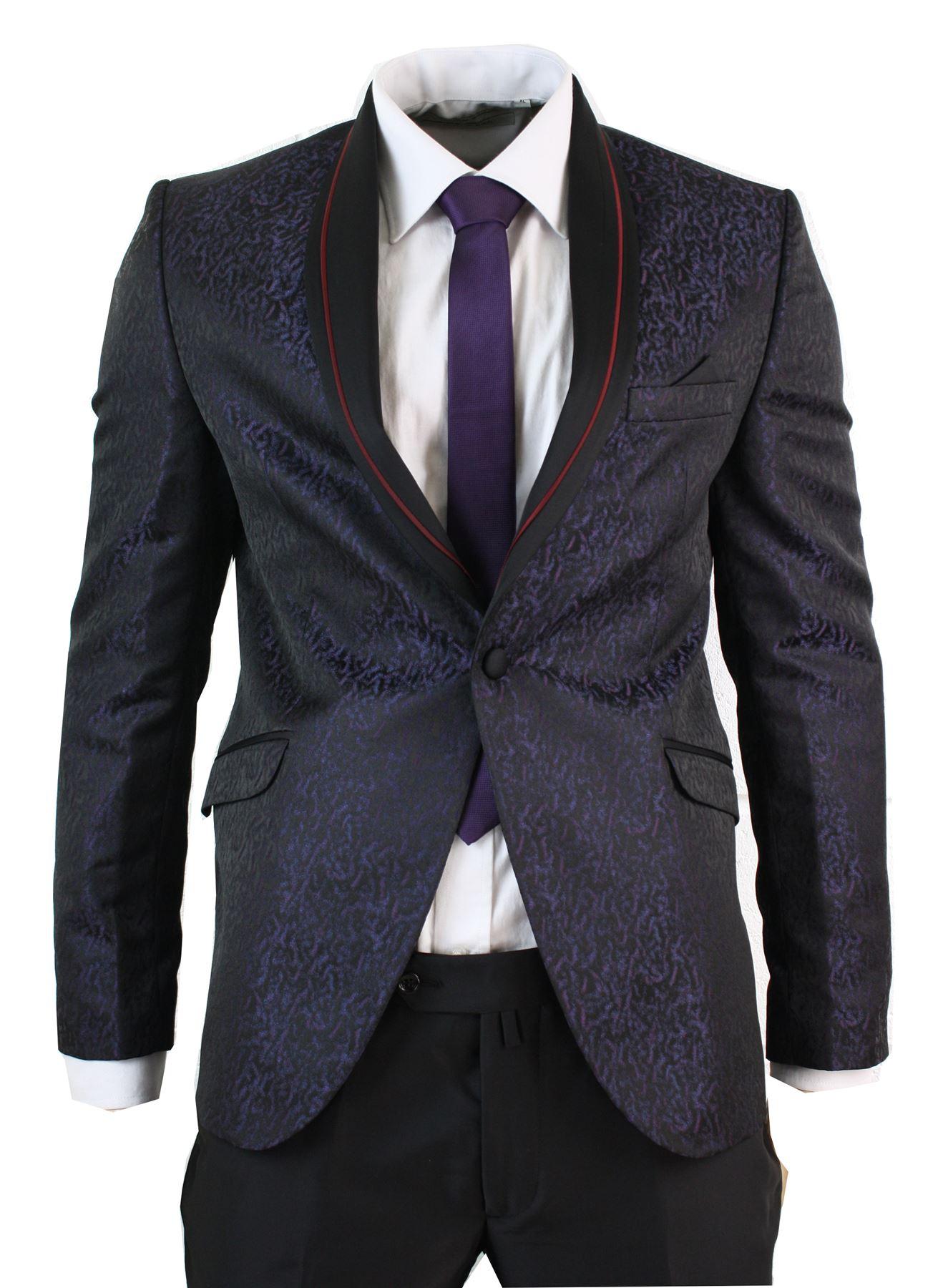 costume homme smoking noir bordeaux violet veste et. Black Bedroom Furniture Sets. Home Design Ideas