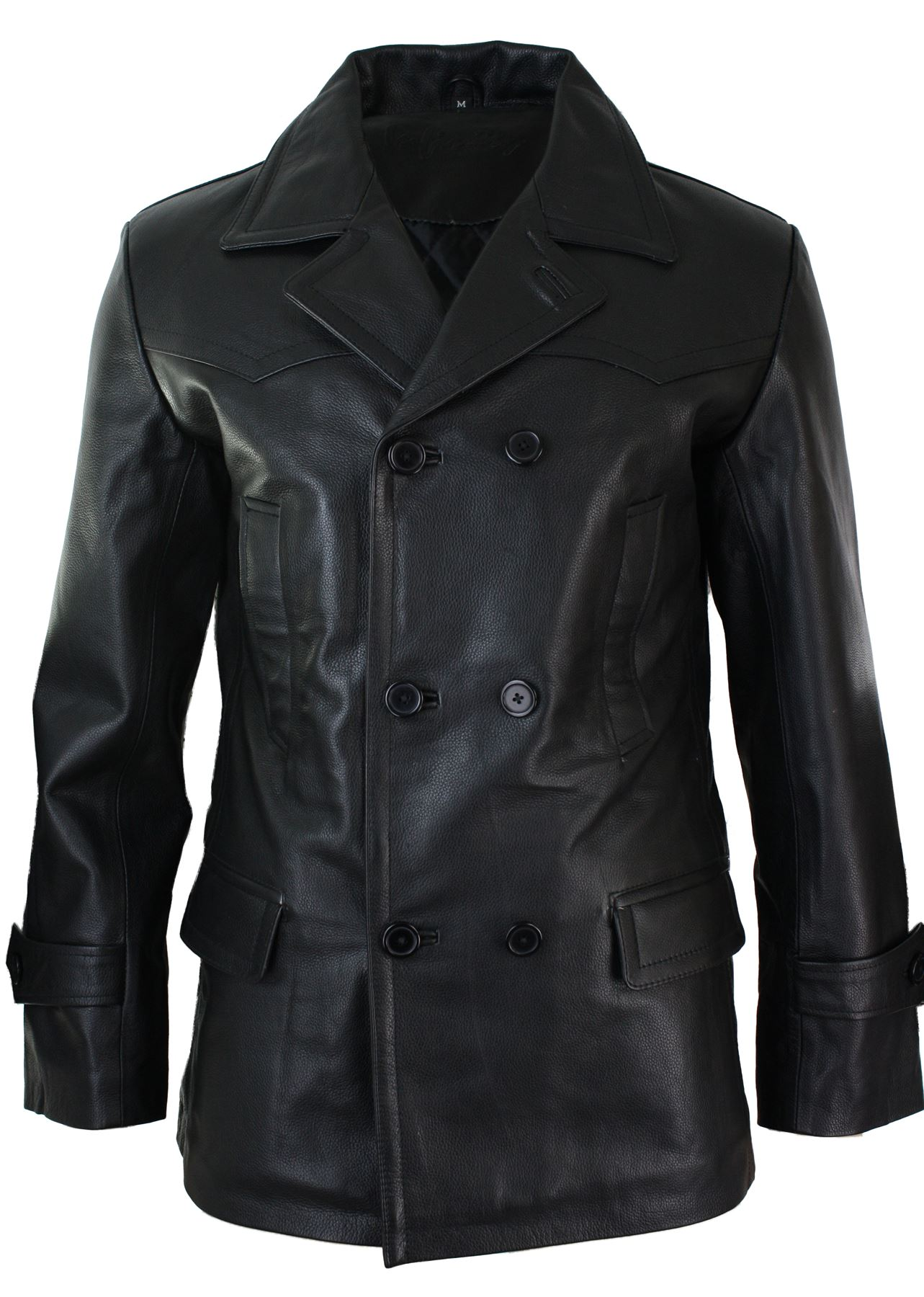 veste homme cuir v ritable coupe 3 4 veston crois dr who. Black Bedroom Furniture Sets. Home Design Ideas