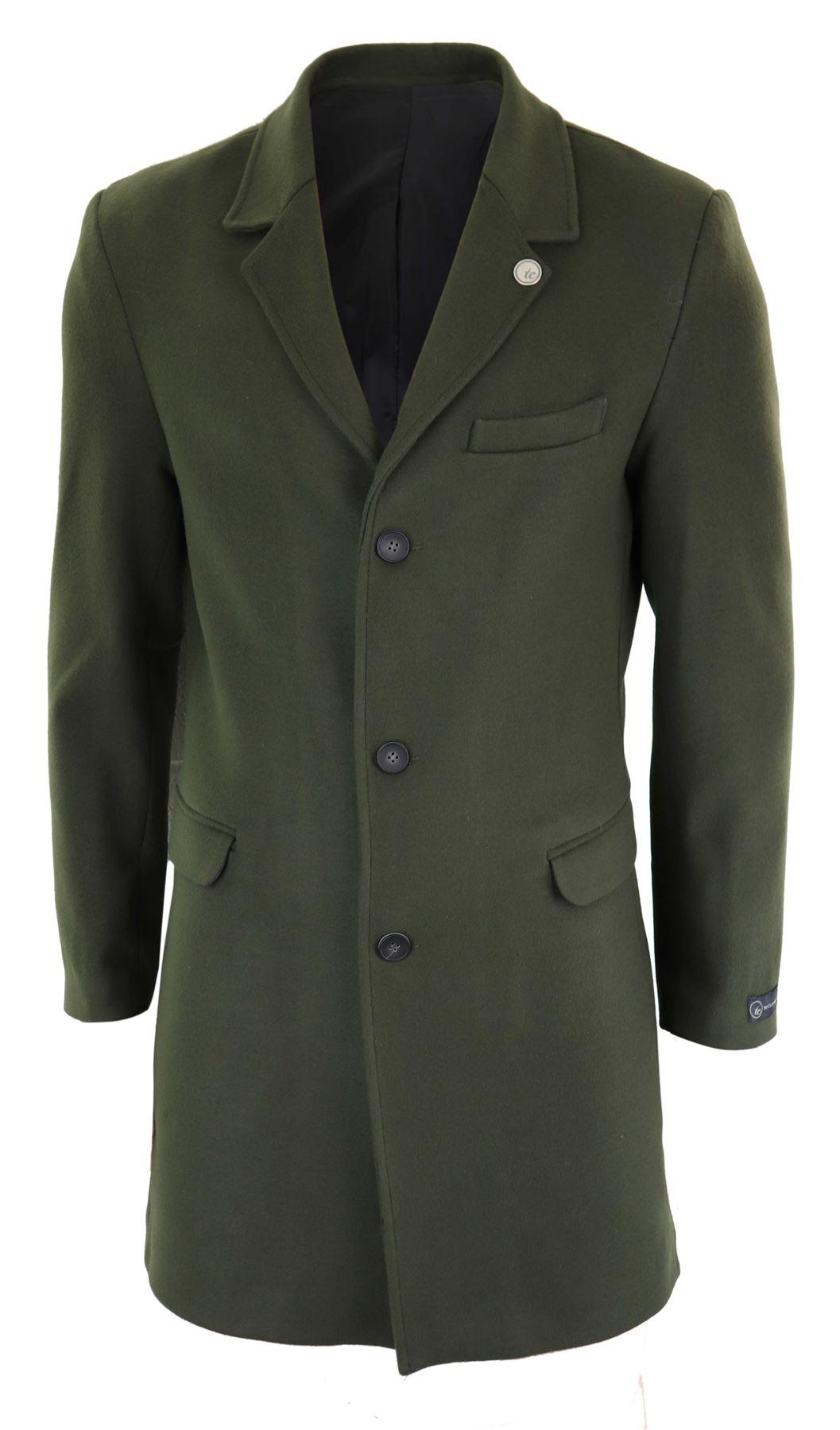 meilleur original à chaud style actuel Détails sur Manteau homme longueur 3/4 veste effet laine coupe slim style  Peaky Blinders