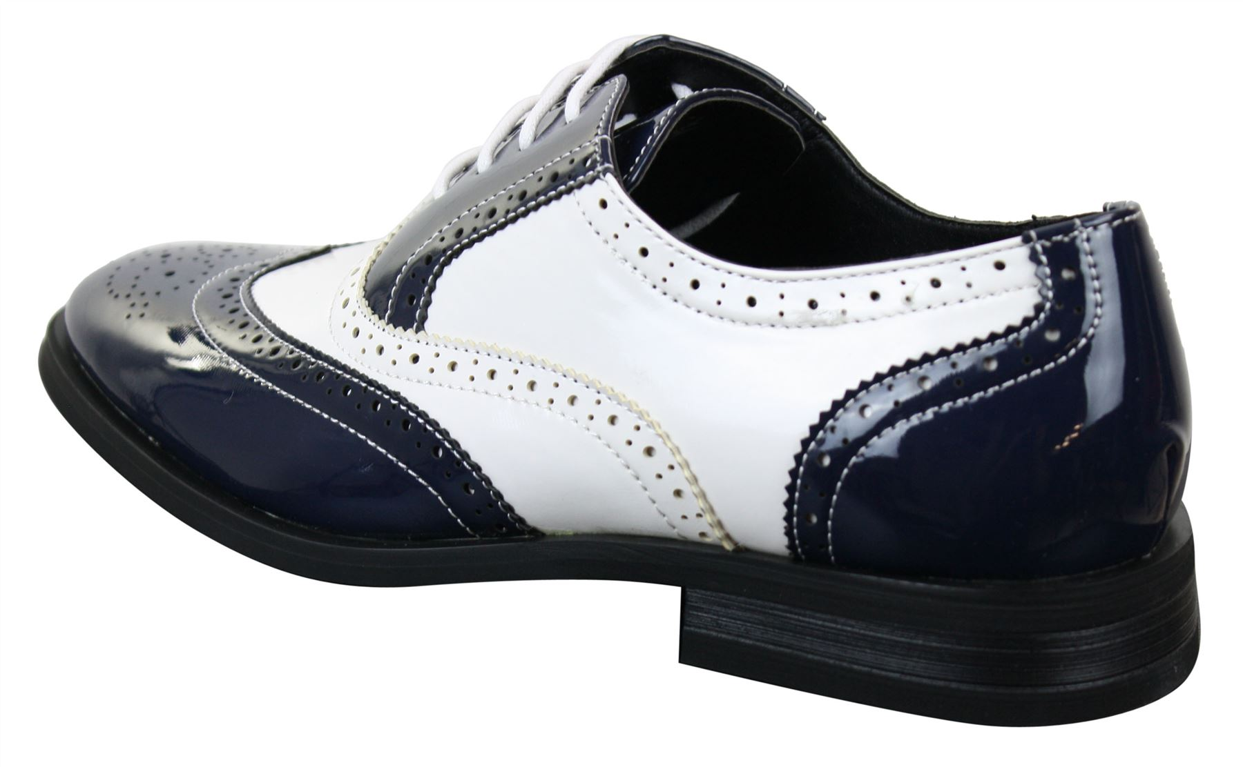 Dentelle Détails Brillant titre Chaussures Patent Gatsby afficher le Classic 1920 Homme Noir Rouge d'origine années sur Blanc Chaussures OXkiuTPZ