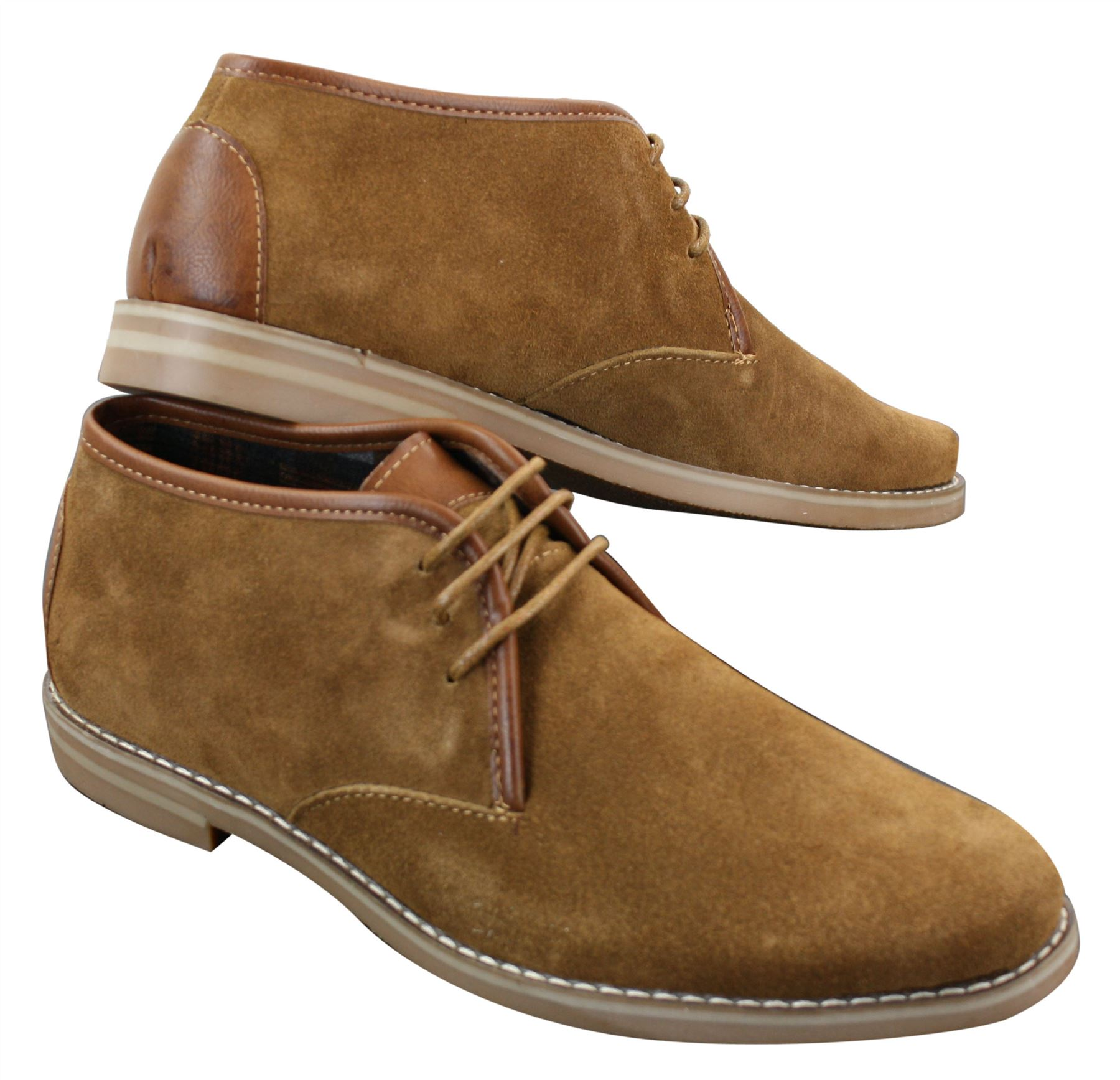 Similar to the Chukka boot, the Chelsea style of shoe is ankle length and generally made of suede or leather. It is characterised by its iconic elasticated panels that allow the shoe to slip on and off, and often there is a tab of fabric on the back of the boot.