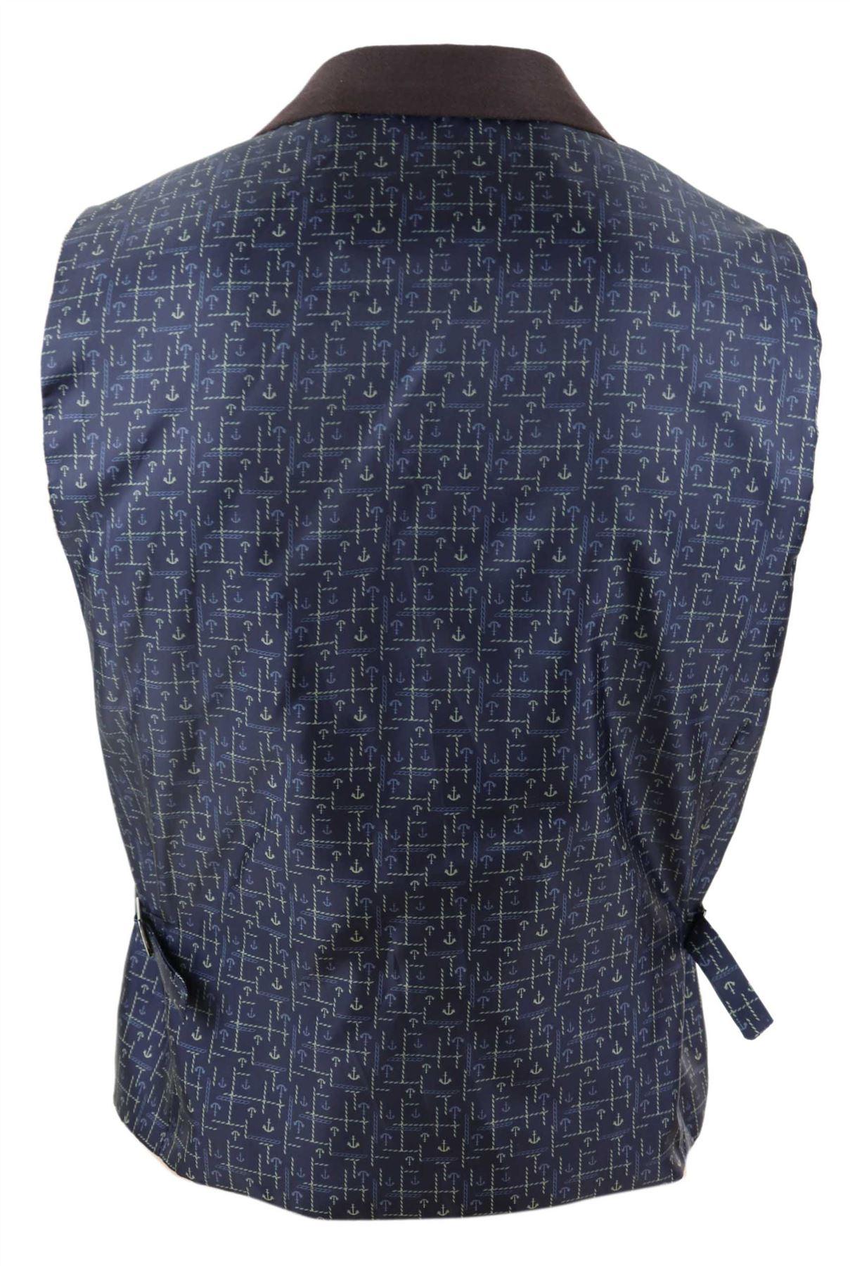 Mens-Waistcoat-Tweed-Check-Classic-Peaky-Blinders-Tailored-Fit-Vintage miniatuur 7