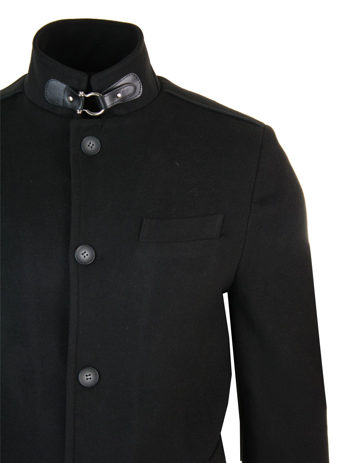 Veste longue manteau 34 col Mao montant décontracté chic