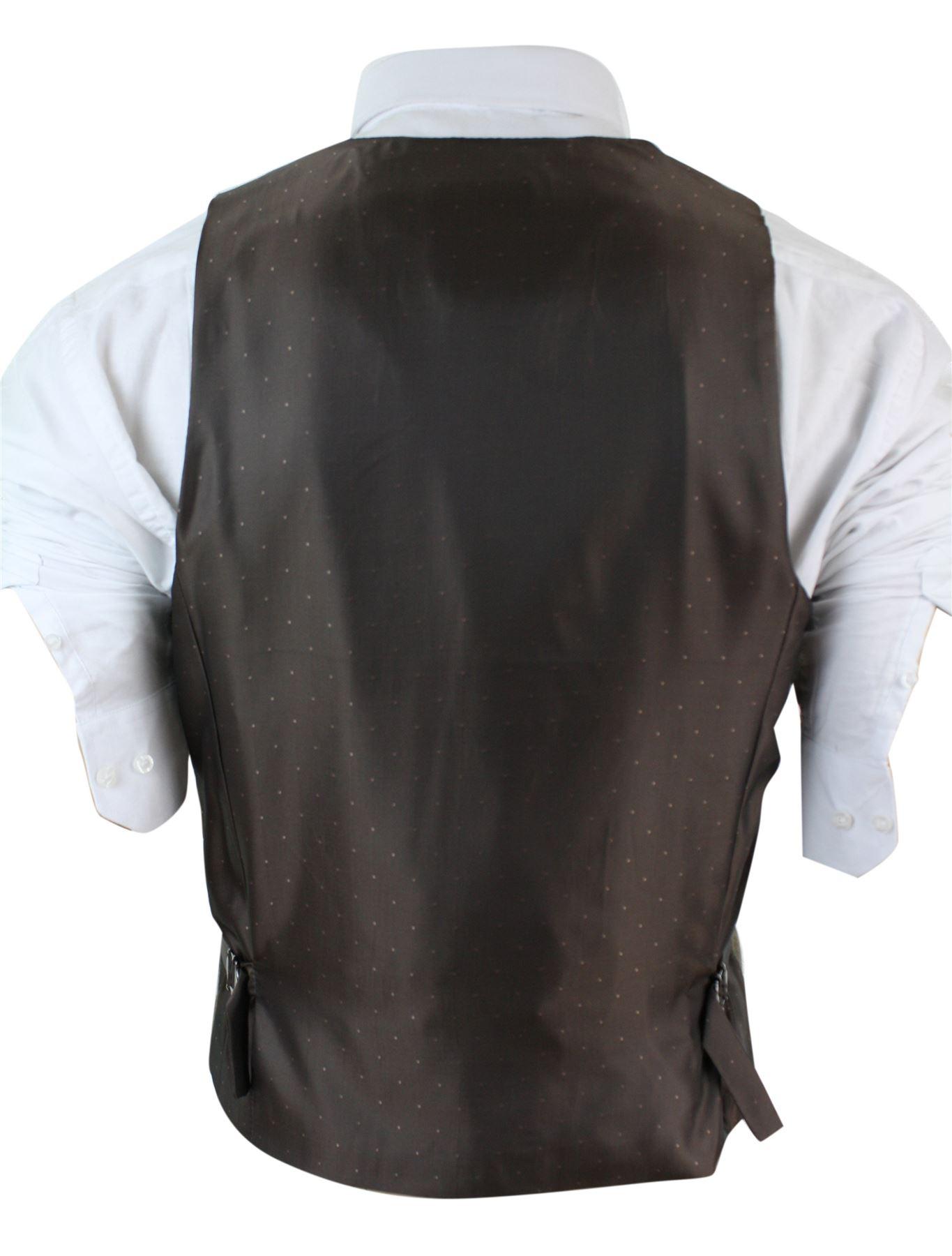 veste ou gilet homme tweed chevrons r tro vintage coupe ceintr e marron brun ebay. Black Bedroom Furniture Sets. Home Design Ideas