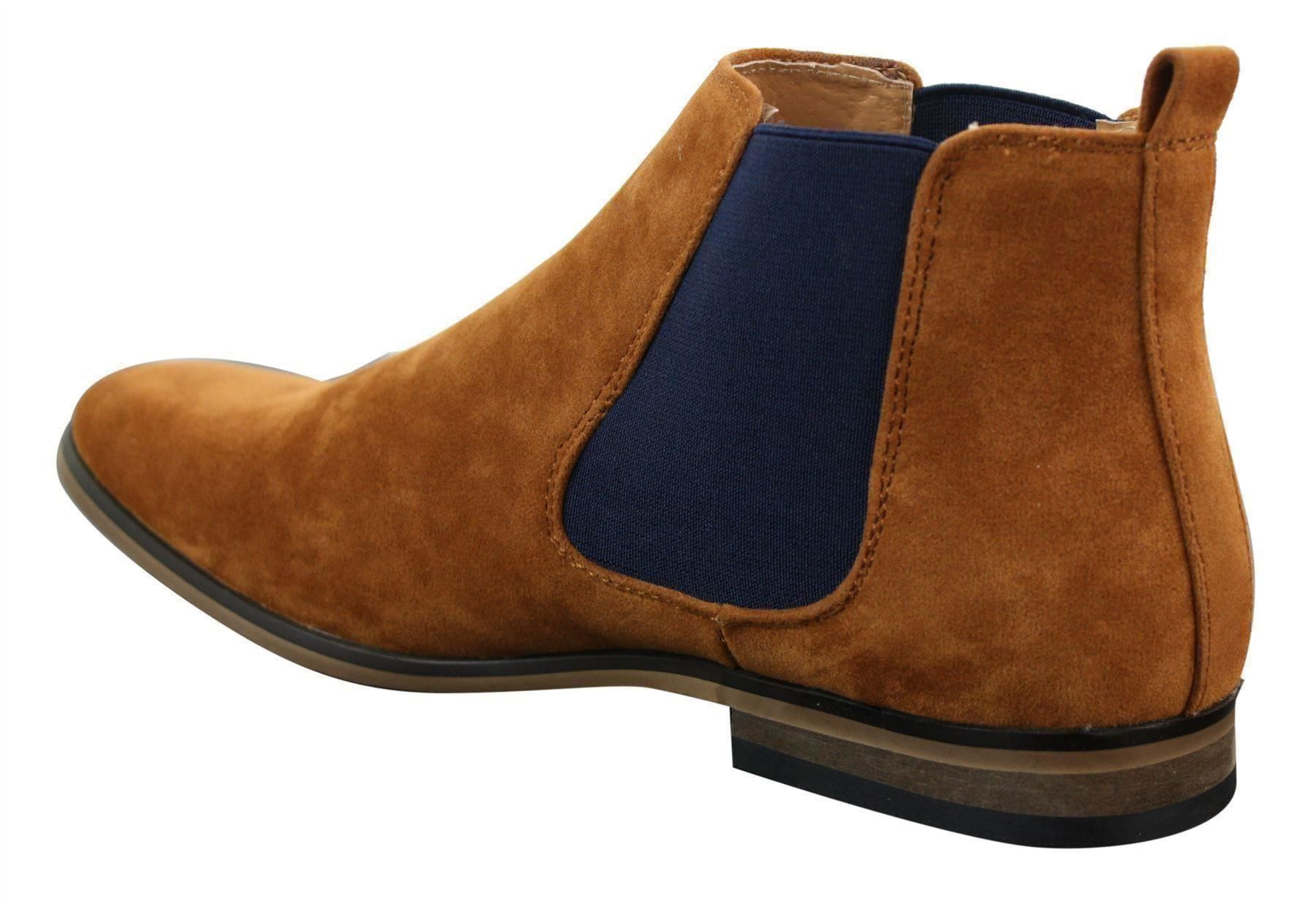 mens boots desert casual smart on suede slip comforter dealer chelsea italian comfortable most itm ankle