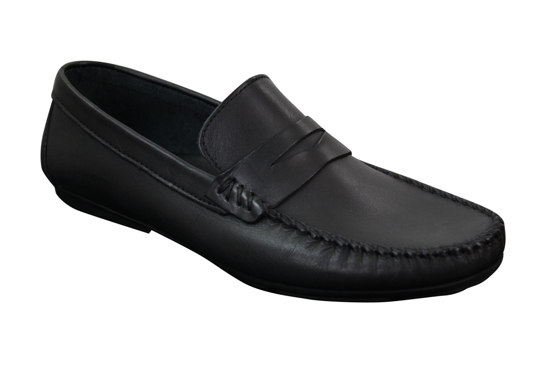 Zapatos cuero caballero zapatos cuero Zapatos genuino vintage negro retro slip on Design dc7e38