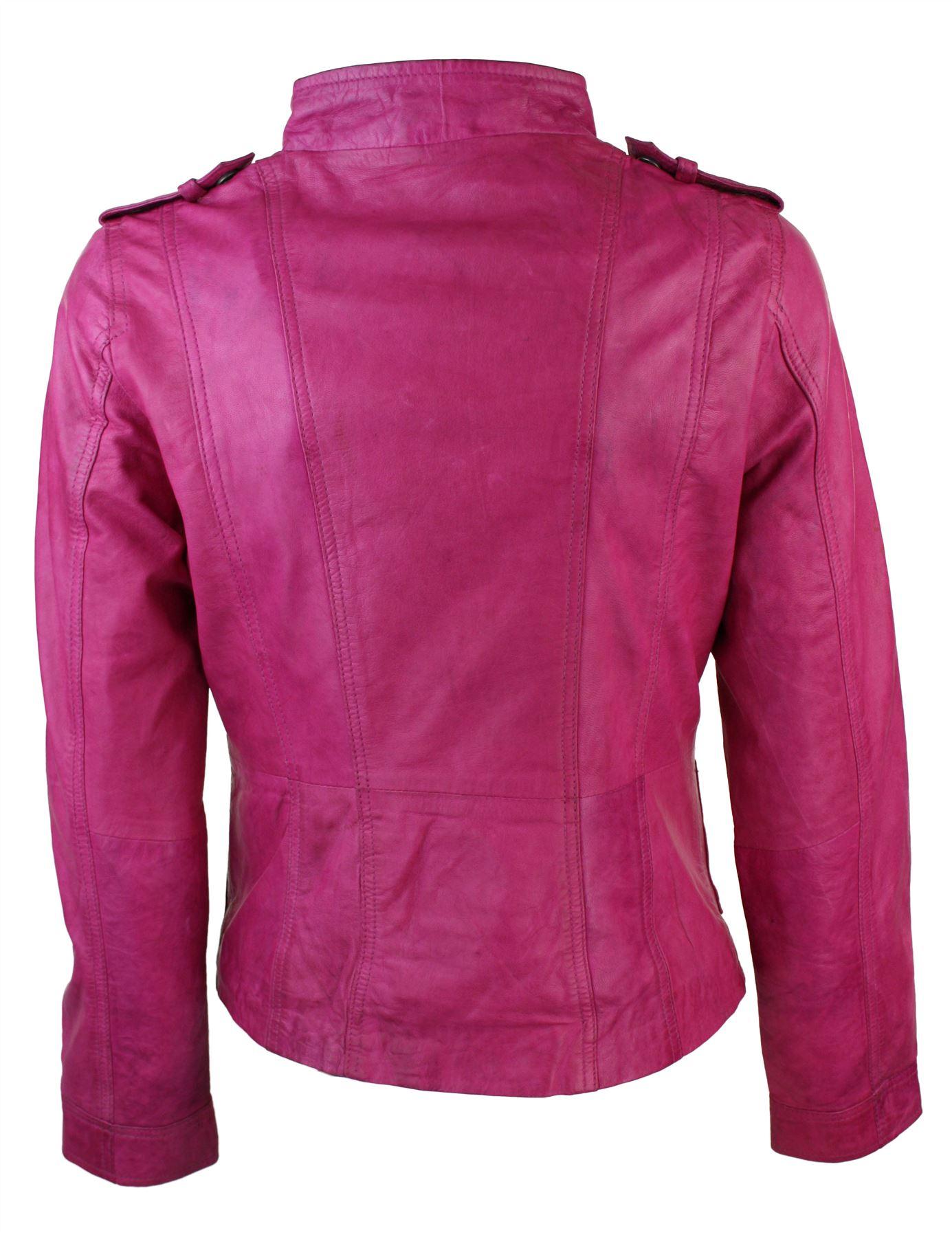 Ladies green leather jacket