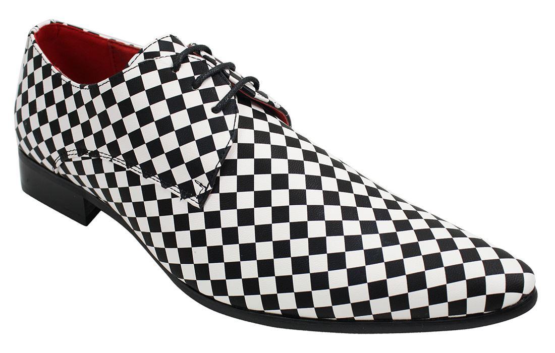Blancs Festif Noirs À Chaussures Et Enfiler Carreaux Italien Homme Style Chic wqpFp4zX