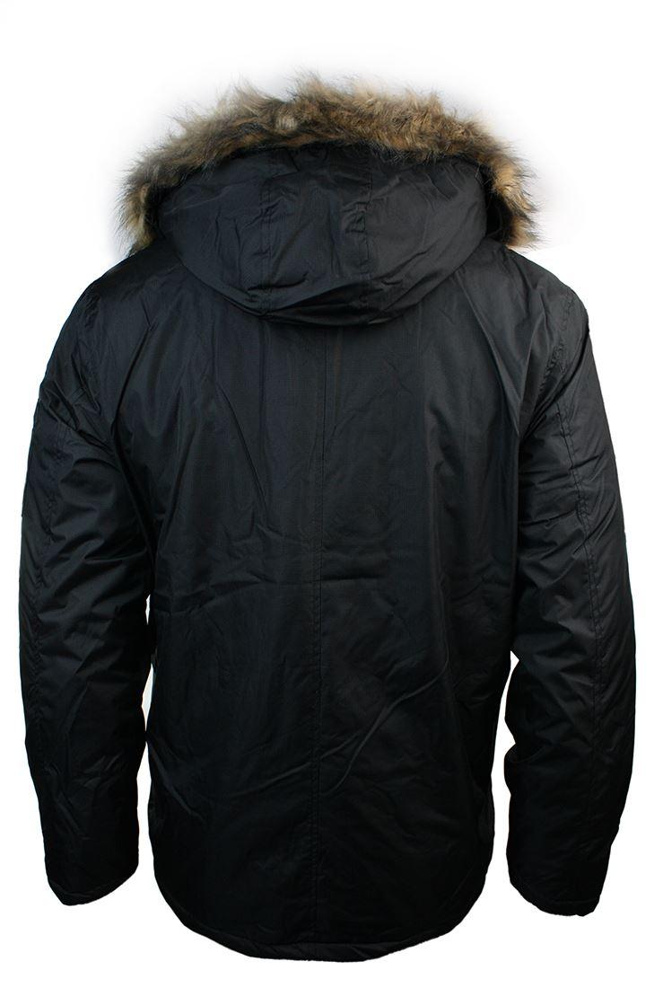herren winter parka jacke schwarz gr n khaki warm gesteppt. Black Bedroom Furniture Sets. Home Design Ideas