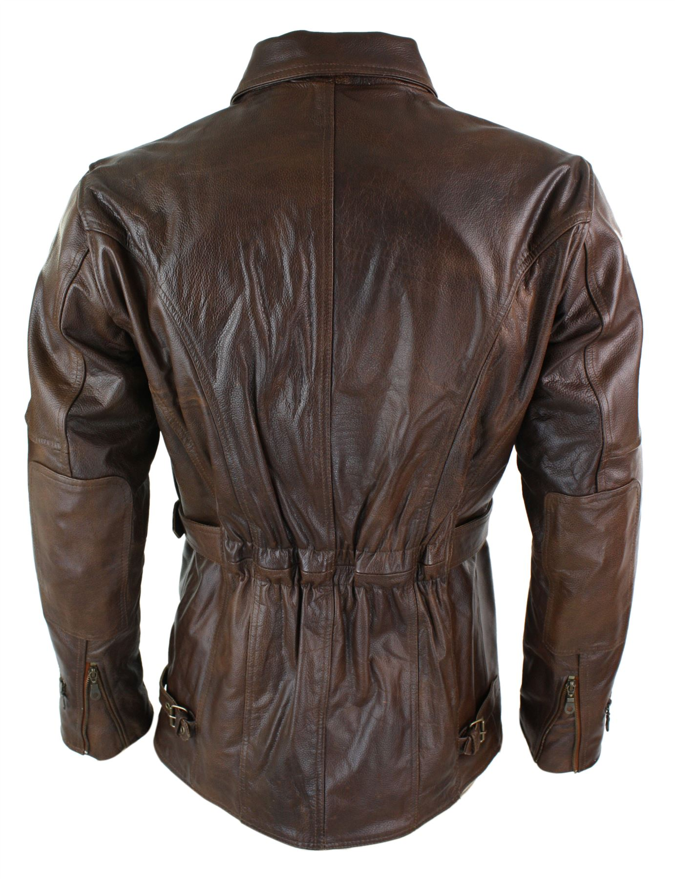 veste cuir longue 3 4 homme fermeture diagonale ceinture. Black Bedroom Furniture Sets. Home Design Ideas