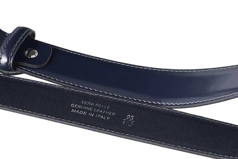Herrenguertel-100-Echtleder-Hergestellt-in-Italien-Patent-Glaenzend-Jeans-Hose Indexbild 4
