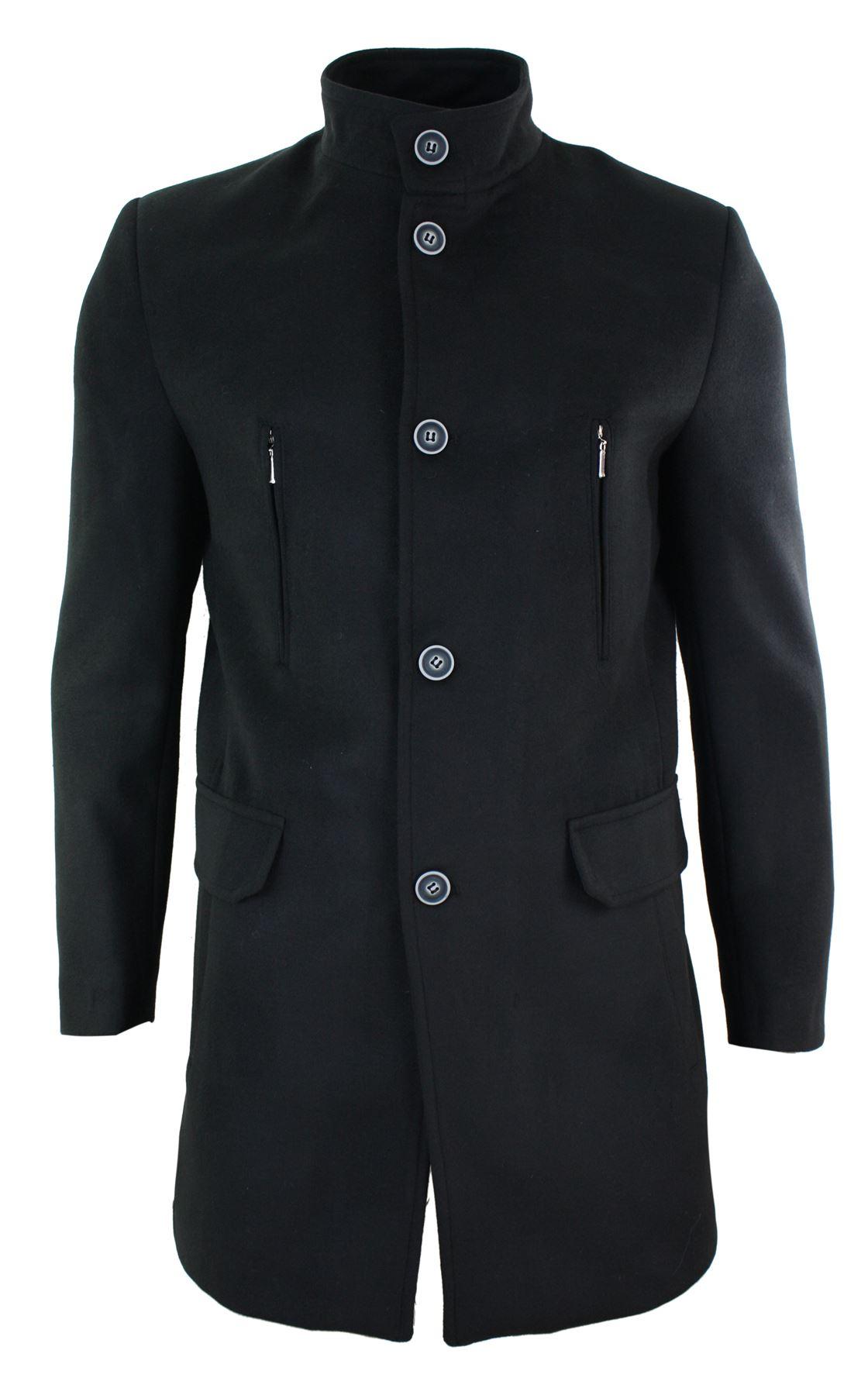 manteau homme veste 3 4 col mao haut laine m lang e style. Black Bedroom Furniture Sets. Home Design Ideas