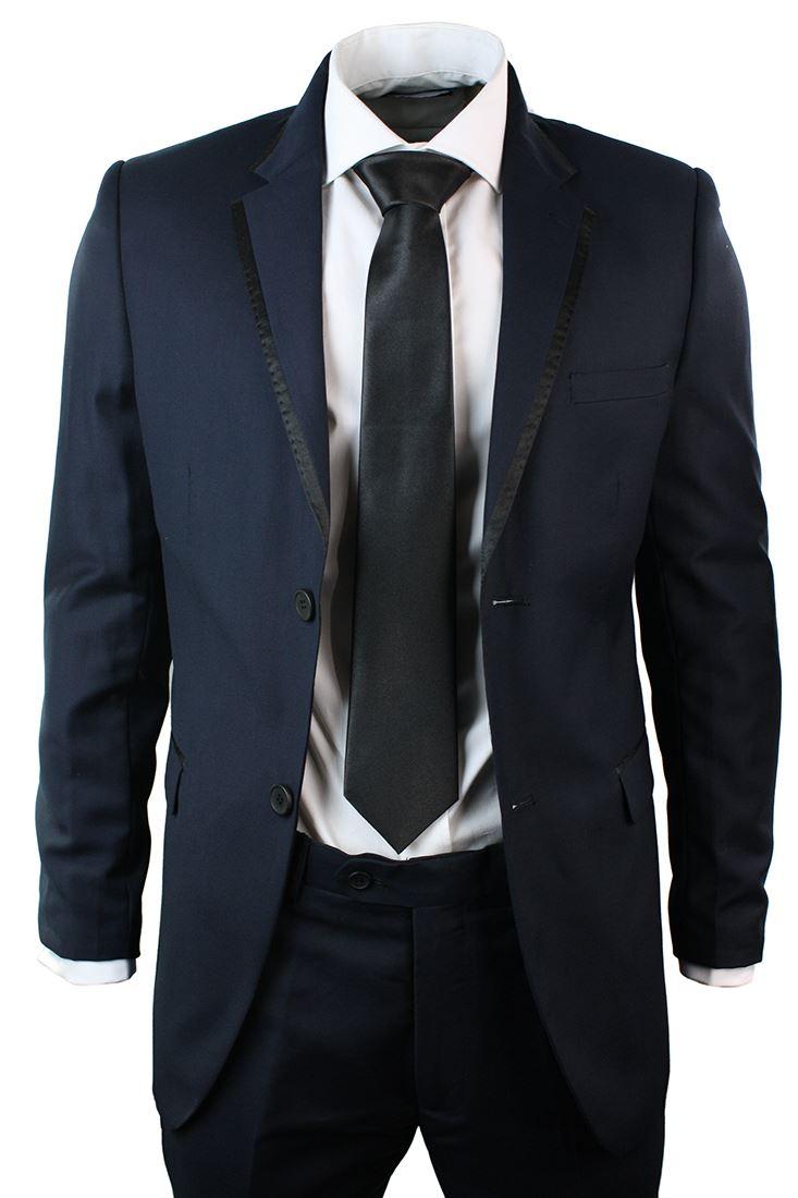 693faf0c4c ABITO BLU MARINO da Sera 2 Pezzi da Uomo Completo Elegante Pantaloni e  Giacca