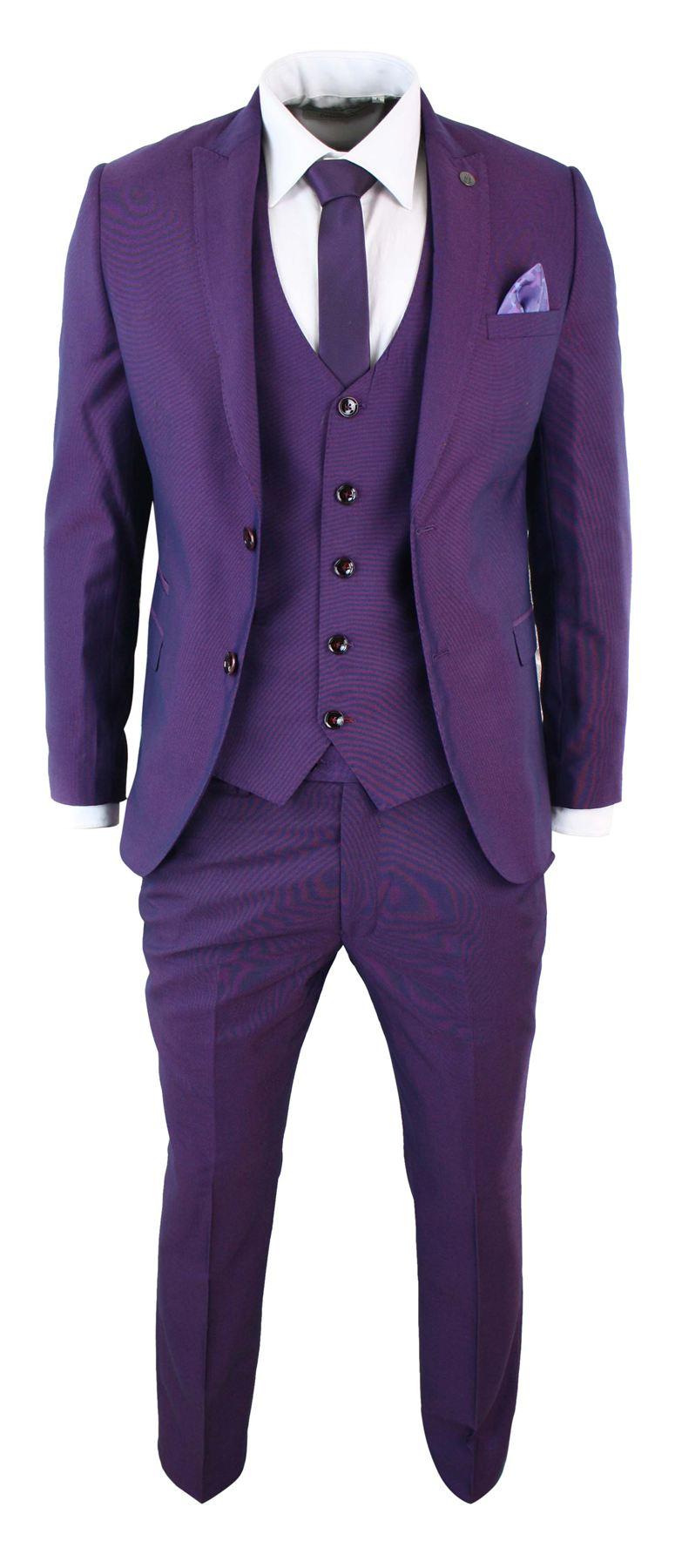 scegli l'autorizzazione davvero economico fabbrica Abito Viola Elegante 3 Pezzi Da Uomo Completo Pantaloni, Giacca e ...