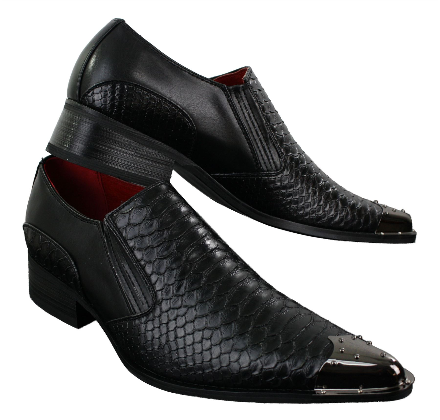 Brown Leather Point Men Shoes